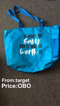 Blue and black tote bag Springfield, 65807