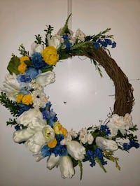 Tulips, Orchids and Hydraneas Wreath  Virginia Beach, 23452