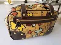 borsa in pelle marrone e nera Firenze, 50142