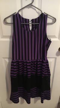 Black and purple stripe sleeveless mini dress Barrie, L4N 0L4