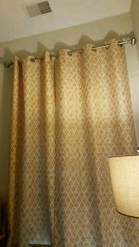 brown and white window curtain Arlington, 22206