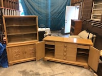 Antique Buffet and China Cabinet Mc Lean, 22102
