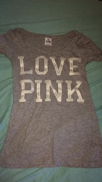 gray and white Victoria's Secret PINK shirt Calgary