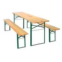 German Fest Beer Garden Table w/ 2 Benches Vienna, 22180