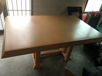 rectangular brown wooden dining table Clinton