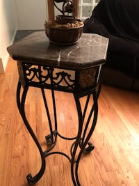 Marble top and metal tall table