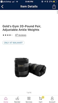 Adjustable 20lb ankle weights  Simpsonville, 29681