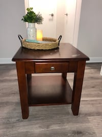 brown wooden side table with drawer Arlington, 22206