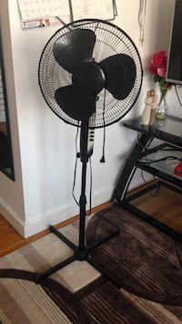 black and gray pedestal fan Winnipeg, R2M 1E4