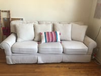 """80"""" Really nice White 3-seater Sofa Rutherford, 07070"""