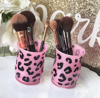 Leopard Makeup Brush Holder New York, 10462