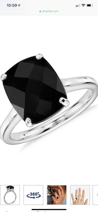 14k White Gold Onyx Ring From Blue Nile - New 543 km