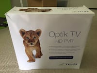 Telus Optik TV PVR cable set top box recording mint excellent condition Richmond, V6Y 4K7
