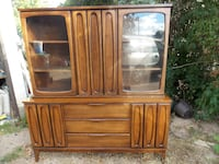 vintage 1960's med. size buffet and hutch  null
