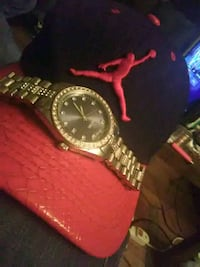 Jean Paul ICED OUT WATCH and Jordan Snake Skin hat Indianapolis, 46227