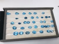 Natural London blue topaz faceted many sizes and cuts  San Diego, 92105