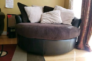 Round Swivel Sofa Chair