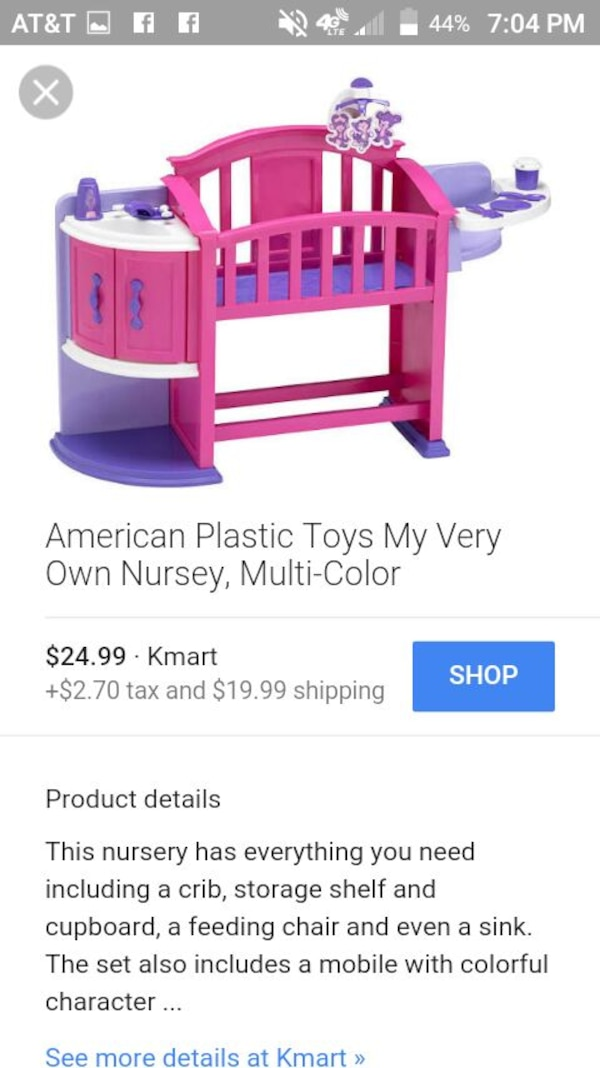 Muloit Coloer American Plastic Toys My Very Own Nursery