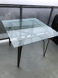 Metal and Glass table