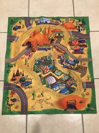 Play mat, toy figurine play area