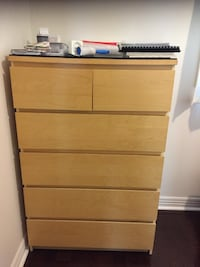 EXCELLENT CONDITION-IKEA MALM 6 DRAWER CHEST TORONTO