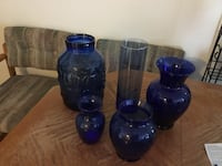 Blue vases-moving.  Must sell. Ames, 50014