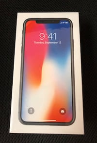 Brand new unlocked iPhone X 256GB Silver Elkridge, 21075