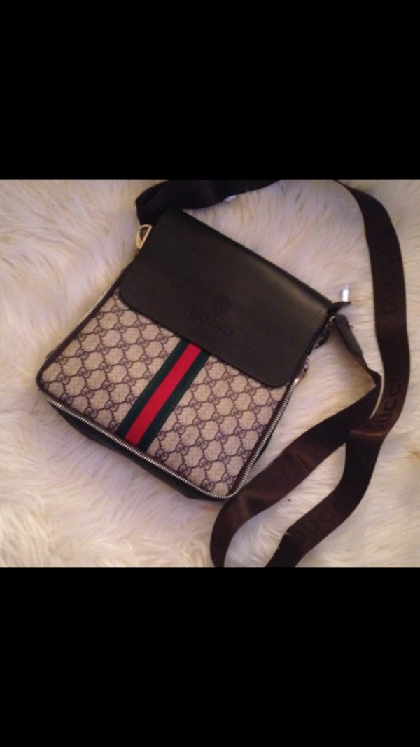 ff495fe8338 Used black brown and beige gucci sling bag for sale in Hamilton - letgo