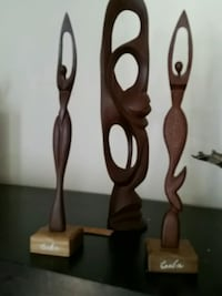 two brown wooden candle holders Longueuil, J4K 2W6