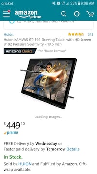 19 inch Huion Kamvas drawing tablet and pen Milwaukee, 53224