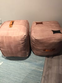 to brune suede ottomans Flaktveit, 5135