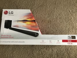 100w LG 2.1 soundbar and wired subwoofer