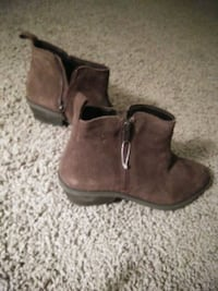 pair of brown suede side zip boots Portland, 97213