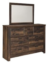 Quinden Dark Brown Dresser | B246 Houston, 77019