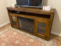 TV Stand w/Fireplace & Side Table