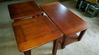 Coffee table & 2 end tables. Dover, 37058
