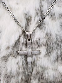Sterling Silver Mariner Cross Cz Necklace Burnaby, V3J 1S3