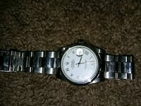 round silver analog watch with link bracelet Fairview, 97024