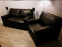 Black Sofa and Chair, Genuine Leather Toronto, M6K 3R8