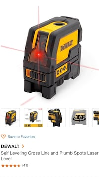 Dewalt Self-Leveling Cross Line & Plumb Spots Laser Level Las Vegas, 89147