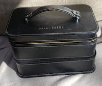Bobbi Brown Black leather makeup case
