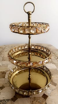 Golden Jeweled Marie Antoinette Style 3-Tiered Table Accent  Fort Lauderdale, 33315
