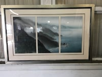 Jim Zhang Japanese triptych painting Whittier, 90602