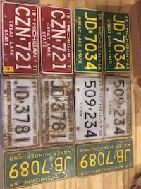 Pairs-license plates. Original Cedar Springs, 49319