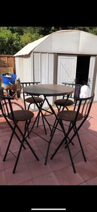 round black metal table with four chairs Petaluma, 94954