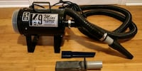 K-9 mini blower dryer 9.5amps 1.25hp, 2 speed, attachments Vaughan, L4K 5S2