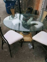 rectangular glass top table with four chairs dinin Rex, 30273