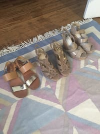 3 pairs of summer shoes size 8 Guelph