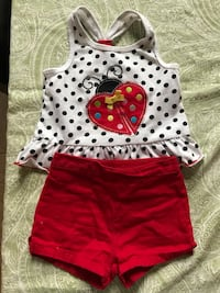 Baby girl - lady bug set. Size 18 Months