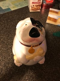 Vintage Clay art dog bones series 1991 cookie jar Baltimore, 21222